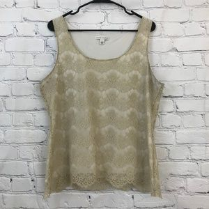 Banana Republic Lace overlay Tank
